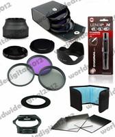 52MM UV+CPL+ FLD Filter set for Nikon D60 D5000 D3000 D310  + Lens Hood  + Complete Square Filter Kit for Cokin P Series