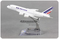 16cm Air FRANCE A380 Airbus Airlines Plane Model Alloy Airways Model Kids Intelligence Aircraft Toy Collections