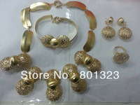 Free shipping 18K gold platting big costume jewelry set