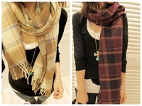 Hot !  Classic Women's PLAID Print Pashmina Scarf Female Wrap Shawl Cape Cashmere 210 * 60cm  A010274