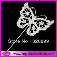 50pcs/lot 12CM each Style Butterfly Rhinestone Cake Topper CT100