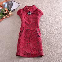 Free Shipping 2014 New European Style Retro Cotton Jacquard Sleeveless Slim Female Fahion Dress Sweet Winter Women Dress