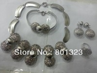 Free shipping Christmas hot sale Costume jewelry set ,white gold platting