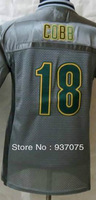 Free Shipping Cheap Wholesale 2013 New Green Bay #18 Randall Cobb Jersey Elite Grey Kid Jerseys Youth Kid Jerseys