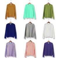 Winter sty nda vintage o-neck loose sweater pullover women outerwear