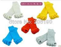 Hot 5pair/lot 100% Honest Selling Sleeping Socks Massage Five Toe Socks Foot Alignment Treatment Socks 5 colors