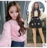 Vivi 2014 HARAJUKU three-dimensional rose plush fleece sweater female