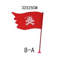Free shipping Pirate party supplies corsair hand flag bar supplies skull