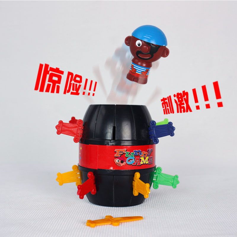 Free shipping Small pirate bucket eggs shock toys tricky toy novelty(China (Mainland))
