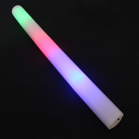 Free shipping Colorful three-color light emitting sponge stick Large concert neon stick electronic foam stick flash stick