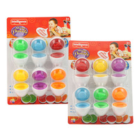 Free shipping Kindergarten toy puzzle shape minis egg smart egg