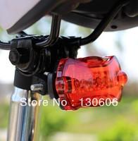 Free shipping 5 led sitair rear light bicycle safety warning light ride