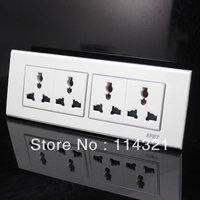 kathyShanghai People's switch socket 118 type switch socket MOISTURE four versatile four 12 -hole plug socket