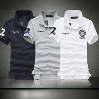 2013 Summer new 3 color fashion shirts comfort men's short-sleeved Tees top quality cotton polo shirts free shipping word 7