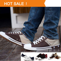 Men's canvas shoes 2013 new arrival fashion top quality jeans comfortable canvas Sports shoes All size breathable sneakers