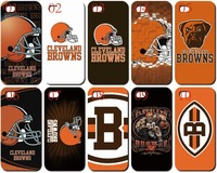 New arrival skin design Cleveland Browns white case hard back cover for iphone 4 4th 4s 4G 10PCS/lot case+Free shipping
