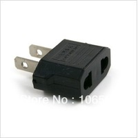 free shipping promotional 100% new eu to us ac power plug Black EU to US Power Adapter Converter Socket Plug