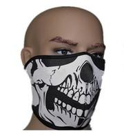 Mask Top quality Warm Windproof Neoprene Polar Fleece Skull Half Face Mask Ghost CS Outdoor Riding Sports Cycling Masks