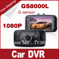 Original GS8000L Car Dvr Novetak HD 1920x1080P 2.7 inch 140 Degrees Wide-Angle with Infrared Night Vision
