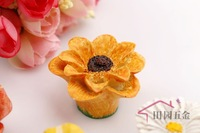 Sunflower Simple Style Resin Cabinet Cupboard Drawer Knob Door Pulls Handle MBS040-7