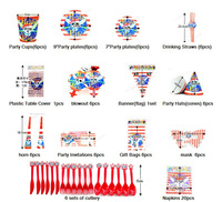 2013 Pirate New Kids Birthday Party Decoration Set Theme For kids birthday / Christmas Party Supplies free shipping