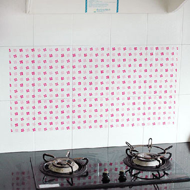Large oil smoke tile kitchen cabinet decoration stickers lxys1029(China (Mainland))