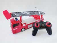 Toy four channel remote control car fire truck 119 ladder truck