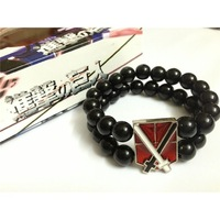 Anime Attack On Titan Training Corps Badge  cosplay bracelet  free shipping 5 pcs/lot C1203