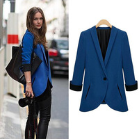Autumn fashion women's 2013 slim blazer fashion all-match fashion blazer lady clothing funky