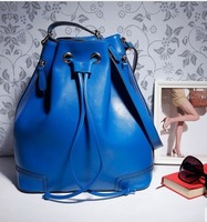 new 2013 arrival winter hot-selling girls genuine leather female bucket backpack women's handbag one shoulder bolsas