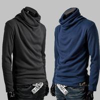 Highneck fall and winter T-Shirt shirts choker sanding knit material Base shirt,slim fit shirt men,joker brand casual shirt men
