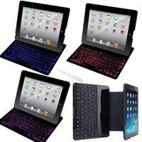 For Apple ipad 5 Air Original Brand Portable Mental Aluminium Ultra Thin Mute Wireless Bluetooth Backlight Keyboard Case Cover