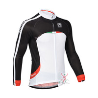 Free Shipping 2013 Santini Team Men's Long Sleeve Cycling Jerseys Breathable Wicking Quick-drying Cycling Jerseys