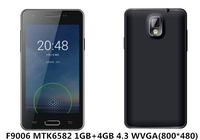 Original F9006 Mini Note3 Android mobile phone GPS WCDMA 3G MTK6582 Quad Core  wifi 4.3inch screen Russian/Spain/polish