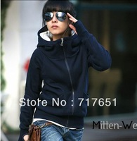 Womens Thin Trendy Hoodie Casual Coat Outerwear Spring Autumn Jacket 4 Color