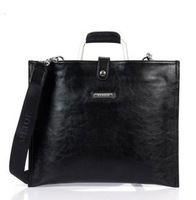 Commercial envelope 2014 brand formal document bag Genuine Leather Handbags men cowhide casual bag 8021