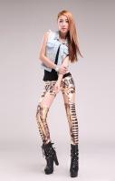 leggings Digital Printing Europe ancient Egyptian queen clip pants leggings for women   winter leggings