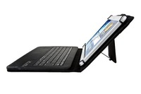 Universal Bluetooth Keyboard Case for 9/10 inch Tablet PC Removable Wireless Keyboard with leather Case Tablet Cover