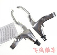 2012 BL-R780 R780 Road bicycle flat brake folder / bicycle V brake levers / Folding bike brake levers Silver color