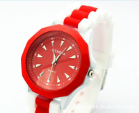 NEW! free shipping 2014 GENEVA watch  Fashion wristwatch student silicon watches brand watch Wholesale best quality