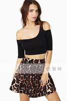 HOT SALE 2014 New Arrival Women Sexy Blouse Off-The-Shoulder Slim Short Half Sleeve T-Shirt