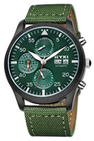 2 Times EYKI Brand Automatic Self-Wind Watch for Men/Men's Fabric Strap Military Watches Fashion Hours New 2013 EFL8733L