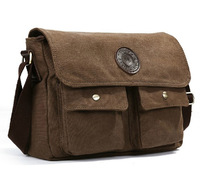 Mensageiro Homens Bag Men Brown Canvas Bag  Vintage Messenger Bag
