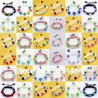 Shamballa bracelets for baby cute child bracelet handmade child jewelry sets shambhlla mix colour pink chain free shipping
