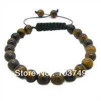 8mm 1pcs Fashion Natural Tiger Eye Jewelry Bracelet for WOMEN&MEN High Quatity Round shape Free Shipping HC350