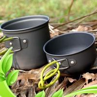 Free Shipping High-Performance Pot/Bowl 2pcs Camping Cookware Cook Set Hiking Survival