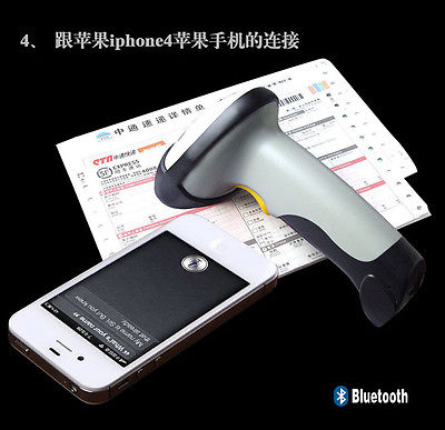 New Wireless Bluetooth Barcode Scanner Code Reader for Apple IOS Android Windows(China (Mainland))