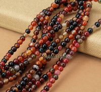 Natural 6mm Round Agate Stone Loose Beads (65pcs/Lot), Beads Accessories And Findings For Jewelry Making
