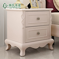American rustic bedside cabinet fashion storage solid wood bedside table kb601