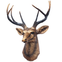 Fashion deer wall hanging wall decoration resin craft animal decoration american classical